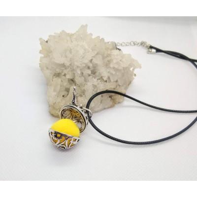 Плетен мъжки ланец с лазурит, ахат и вулканичен камък