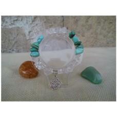 Гривна с тюркоаз и планински кристал